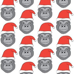 gorillas with santa hats