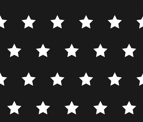 white star on dark gray 1 fabric by rebelinn on Spoonflower - custom fabric