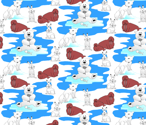 arctic friends fabric by syrina_designs on Spoonflower - custom fabric