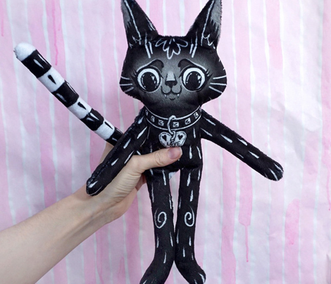 Black Cat BFF - a cut and sew doll