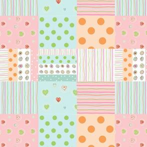 sweet treats 1412  wholecloth quilt - petal