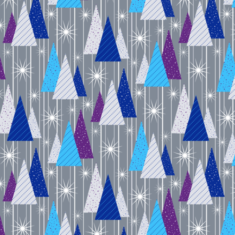 Shimmering Forest (sm) fabric by jjtrends on Spoonflower - custom fabric