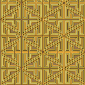 Greek style labryinth in ochre