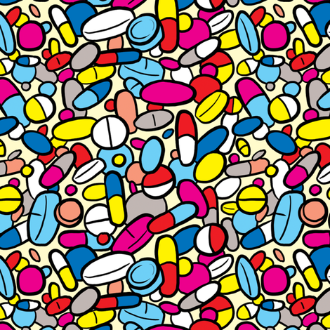 The Medicine fabric by rosalarian on Spoonflower - custom fabric