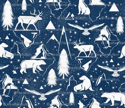Arctic Circle  - Blue Denim