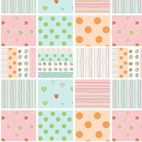 Sweet Treats - SMALL 1412 - wholecloth 42 quilt squares petal