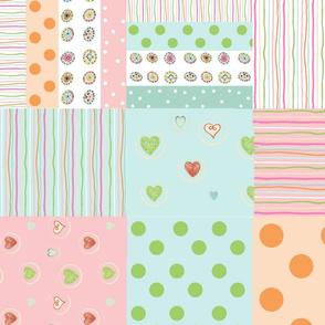 sweet treats 2118  wholecloth quilt - petal