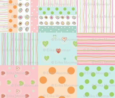 sweet treats 1412  wholecloth quilt 2 - petal
