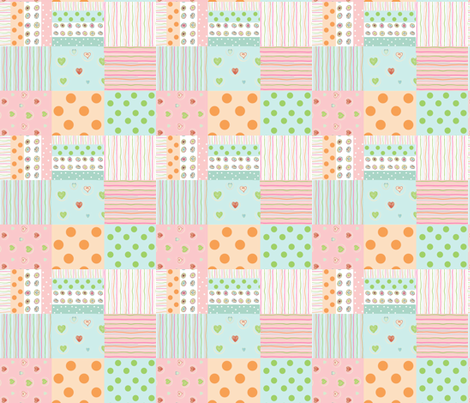 sweet treats 1412  wholecloth quilt 2 - petal fabric by drapestudio on Spoonflower - custom fabric