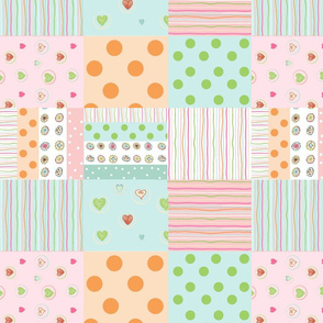 sweet treats 1412  wholecloth quilt 2 - baby pink