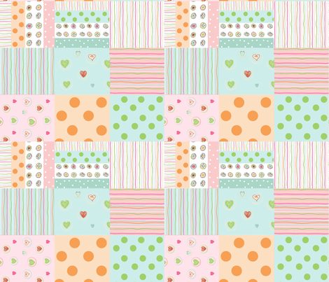 sweet treats 2118  wholecloth quilt 2 - baby pink fabric by drapestudio on Spoonflower - custom fabric