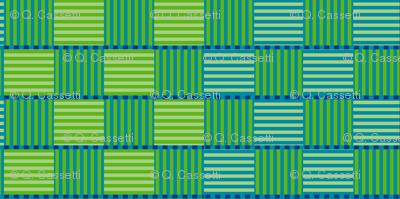 Green Stripe Check