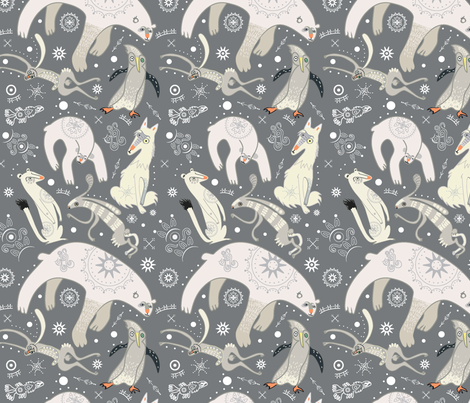 Arctic Animals fabric by pikku_susi on Spoonflower - custom fabric