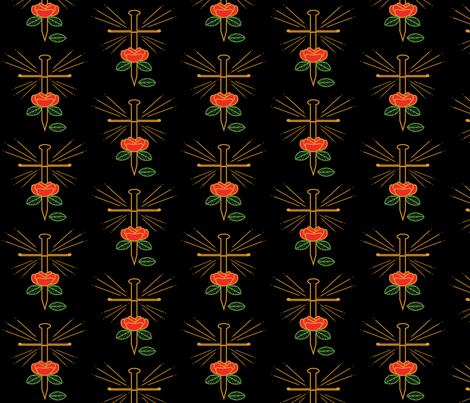 Rose and Dagger fabric by kmdesign801 on Spoonflower - custom fabric