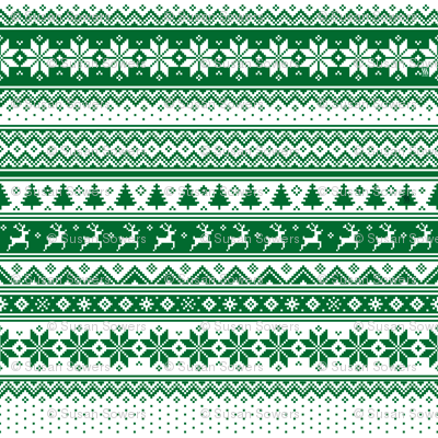 Nordic  Scandinavian Christmas Green