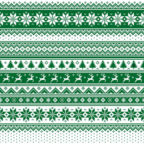 Nordic  Scandinavian Christmas Green