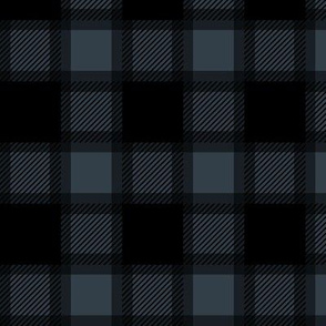Navy Blue and Black Plaid