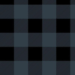 Navy Blue & Black Buffalo Plaid