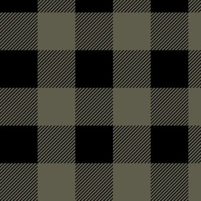 Olive Green & Black Lumberjack Plaid