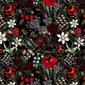 creepy Vintage flowers and berries