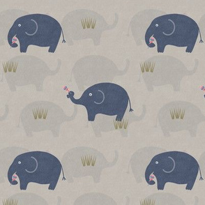 ELEPHANT AND LOLLIPOPS-GREY
