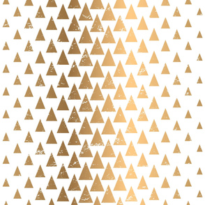 Gold Triangle Forest / Large Scale Geometric