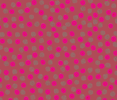 pink dots fabric by claireybean on Spoonflower - custom fabric