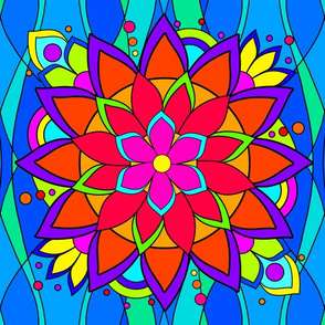 Big Flashy Flower Color V1