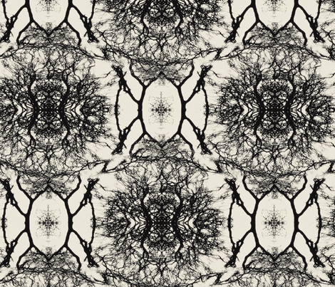 Dream branches, pristine & black fabric by ejmart on Spoonflower - custom fabric