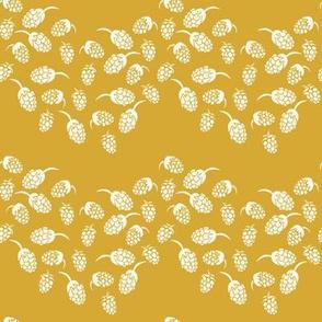 chevron blackberries in mustrad yellow