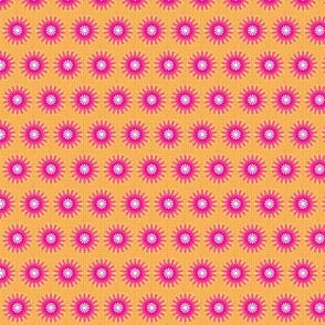 Rustic Check Flowers-Ametrine