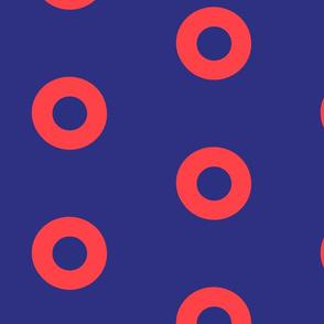 Phish Donut circle Correct Size red blue