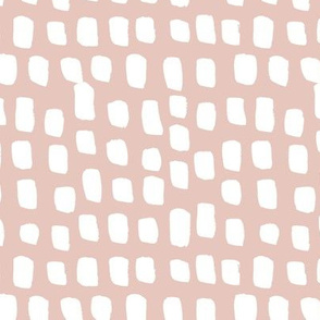 Abstract white spots Scandinavian minimal designs brush dashes beige