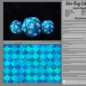 Blue Dice Bag Cut and Sew