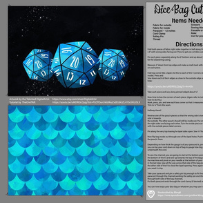 Blue Dice Bag Cut and Sew