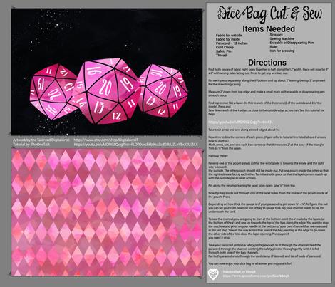 Pink Dice Bag Cut and Sew giftwrap - kfrogb - Spoonflower