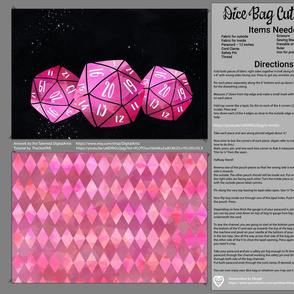 Pink Dice Bag Cut and Sew