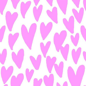 valentines hearts fabric valentines day love bright purple