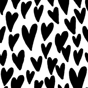 valentines hearts fabric valentines day love black and white