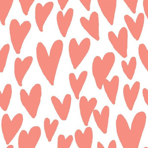 valentines hearts fabric valentines day love peach