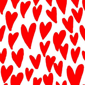 valentines hearts fabric valentines day love white red