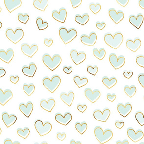 Small Blue hearts of gold