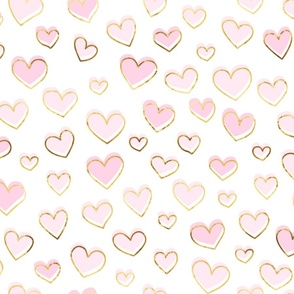Pink Valentinesday hearts of gold