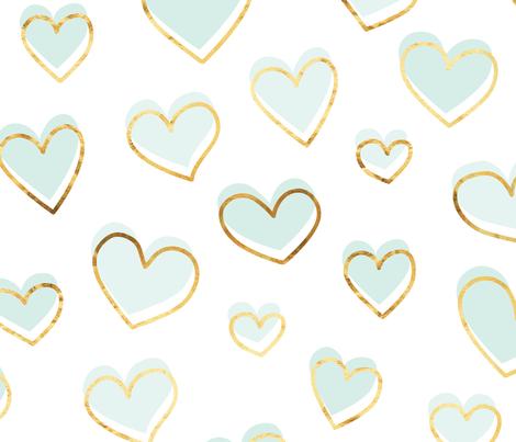Valentines day glam! fabric by cynthiahoekstra on Spoonflower - custom fabric