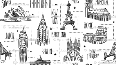 Globetrotter - Travel Map Coloring Book Style