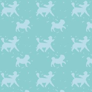 Doggie Walk - Mint Green & Sky Blue Doggies
