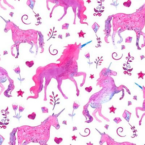 Pink Unicorns at Play