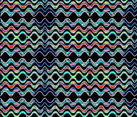Wild Waves fabric by robin_rice on Spoonflower - custom fabric