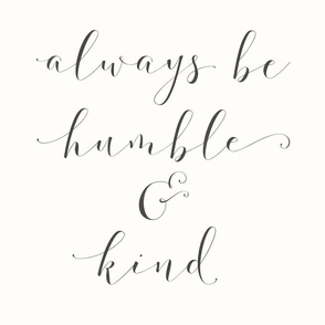 humble and kind pillow panel 16 inch