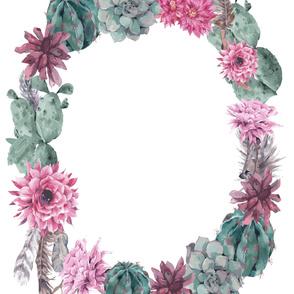 Wreath Sheet in Cactus Boho